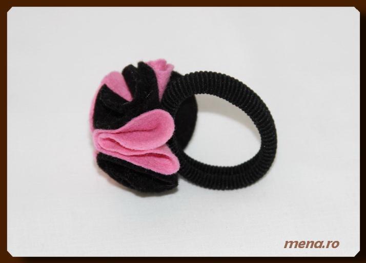 Accesorii pentru par handmade - elastic si cordeluta (14)