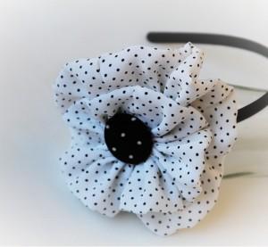 Cordelute handmade cu flori si buline