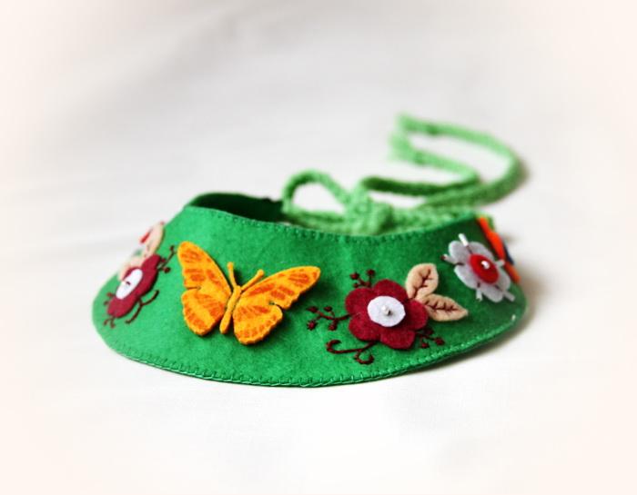 Bijuterii coliere handmade, din fetru (7)