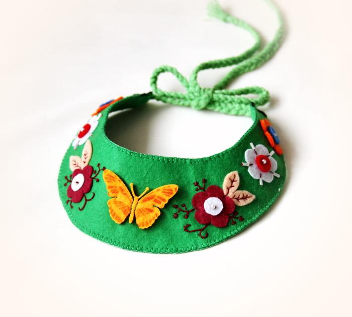 Bijuterii coliere handmade, din fetru (8)