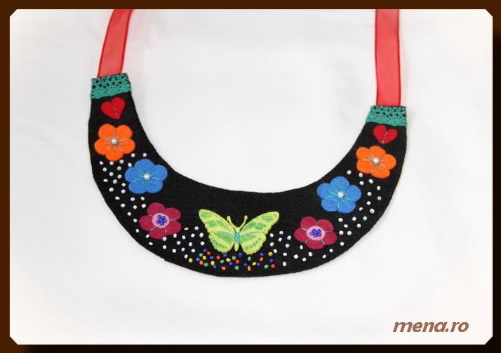 Bijuterii handmade - coliere din fetru (8)