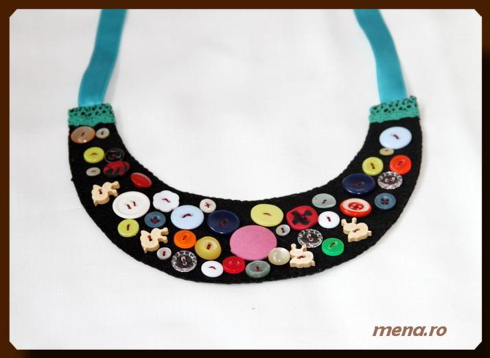 Bijuterii handmade din fetru-coliere, bratari, cercei (17)