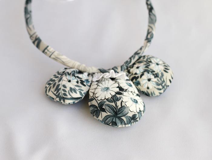 Bijuterii textile cu fetru- colier handmade (1)