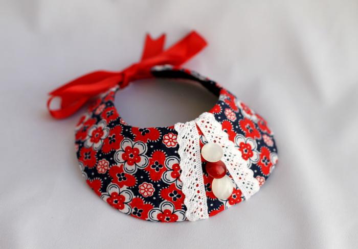 Bijuterii textile cu fetru- colier handmade (11)