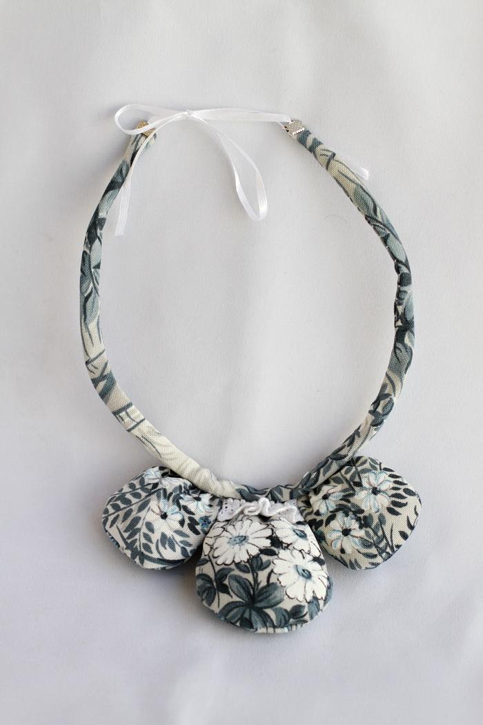 Bijuterii textile cu fetru- colier handmade (2)