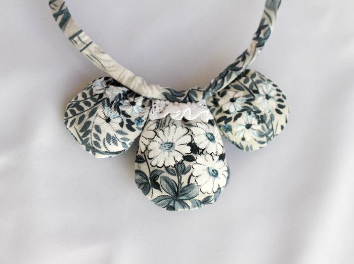 Bijuterii textile cu fetru- colier handmade (6)