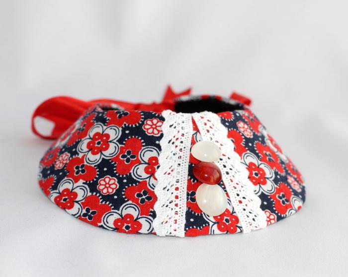 Bijuterii textile cu fetru- colier handmade (8)
