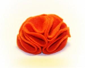 brose bijuterii fetru portocaliu