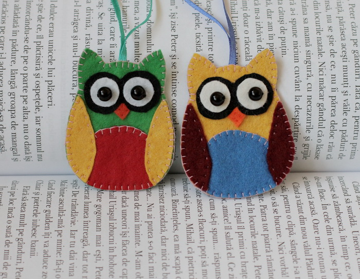 Globuri  handmade din fetru si materiale textile reciclate (2)