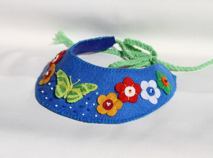bijuterii handmade-colier fetru flori fluturi 1