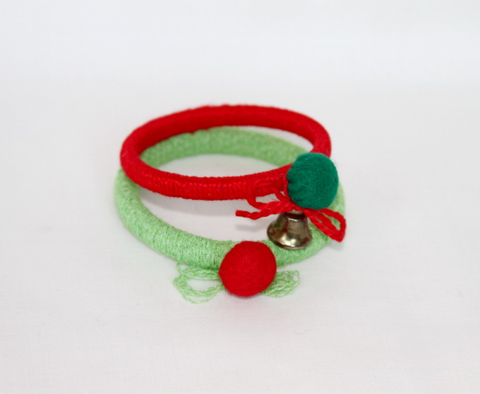bijuterii handmade de Craciun cu ata si fetru (1)