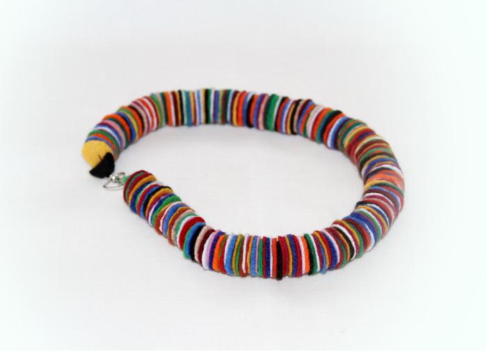 bijuterii handmade din fetru - colier (1)