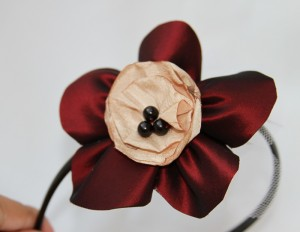 cordelute handmade floare matase