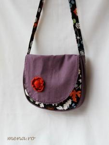 Genti posete handmade cu flori