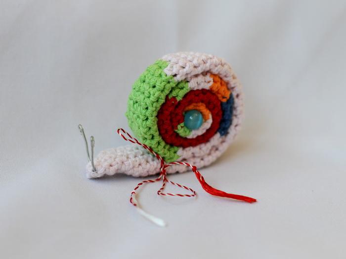 martisoare handmade-melc crosetat (2)