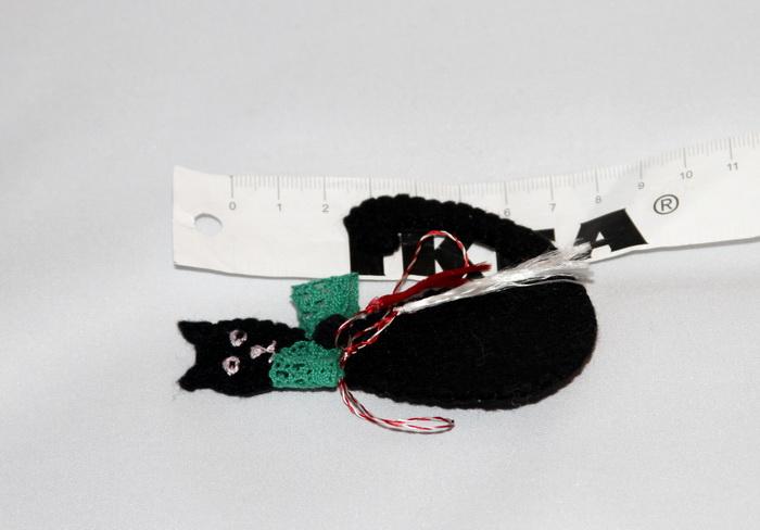 martisor handmade-pisica neagra fetru (6)