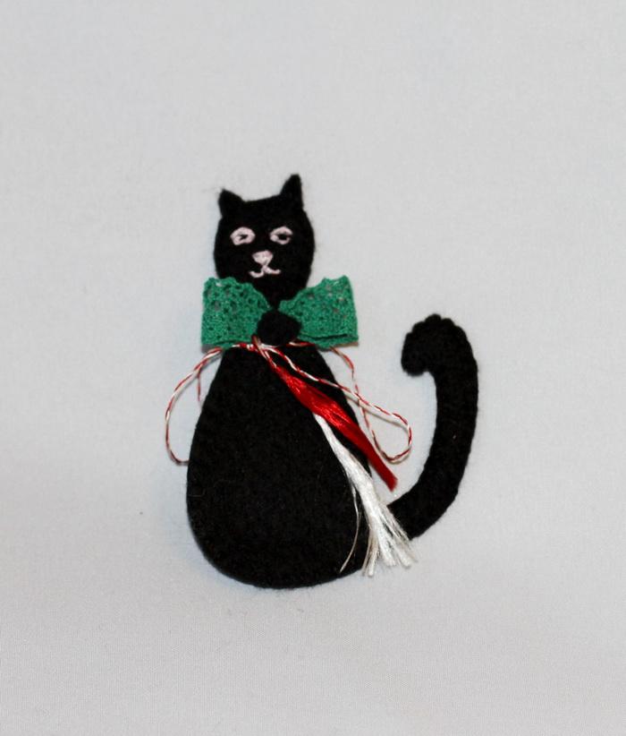 martisor handmade-pisica neagra fetru (7)