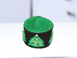 Bijuterii handmade de Craciun - bratara fetru
